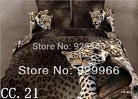 Hot leopard 3d Bedding sets queen size bedspread bed sheet bedclothes bed linen duvet cover blanket cover quilt cover set