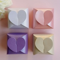 Love Heart Candy Box Pink/White/Purple/Yellow Gift Boxes Wedding Party Baby Shower Favor