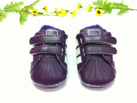 Sport Brand Baby girl's retail purple leather sport wear sneakers first walkers shoes