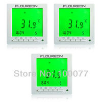 3 X FLOUREON Weekly Digital Floor Thermostat Green Backlight LCD Programmable Thermostat Temperature Controller Free Shipping