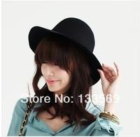Han edition retro Ms. Qiu dong the day high quality wool hat felt trilby hat along big eaves bonnet hat