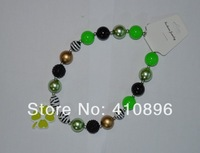 st patricks day Baby Chunky  Necklace
