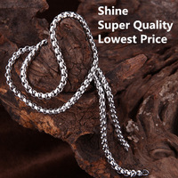 Wholesale Jewelry 10 pieces/lot 316L Stainless Steel Buckle Necklace Chain For Pendant High Qualituy Free Shipping TGXL008