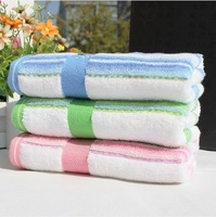 Free Shipping, 3pcs/Lot 100% Cotton Face Towel 72X34CM 90g/piece ,  Striped style