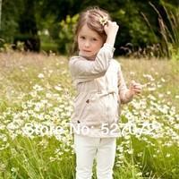 HIGH END!2014 new European design girls jacket,children brand  sun-protective clothing .
