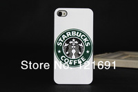 Fashion Starbucks Coffee Phone case for iphone 4 4S 5 5G 5S protective Hard case for apple 5,free shipping