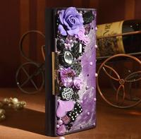 New 2014 Women Fashion Diy Diamond Painting Horsehair Wallet Women's Long Designer wallets Card Holder Crystal Purse Free Ship