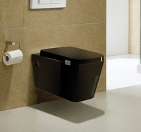 CY3073BL-Bathroom sanitary ware ceramic P-trap washdown wc black wall hung toilet