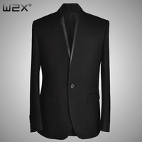 W2 x spring and autumn woolen suit male stand collar chinese tunic suit casual outerwear blazer men's clothing slim