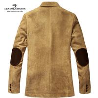 Male suit patch fashion business casual corduroy suit outerwear