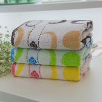 Free Shipping, 2pcs/Lot 100% Cotton Face Towel 74X34CM 102g/piece