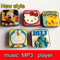 500pcs  Mini Cute music MP3 player Mini Rechargeable MP3 W/TF card Slot Free Shipping