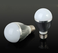 3 pcs LED Light Bulb 7W E27& Cool white led bulb AC Factory outlet*Free Shipping(China (Mainland))