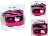 HelloKitty Black  Cosmetic Makeup Bag Case 2014 New Lady Girl Women 1Set(3Sizes)