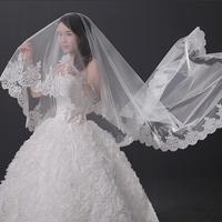 2014bride wedding dress quality super large 3 meters lace decoration veil train beige