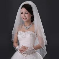 The bride wedding dress formal dress accessories 2014 brief multi-layer veil bridal veil