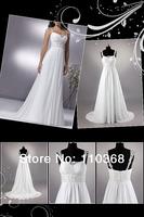 Ivory Chiffon Spaghetti Straps Sweetheart Sleeveless Bridal Wedding Dresses,Elegant Chiffon Bridal Dresses-HS9602 free shipping
