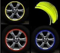 "16 Strips 14-18"" Wheel Reflective Car Motorcycle Rim Sticker,WHEEL Rim Stripe Decal sticker,Waterproof Rim Sticker"