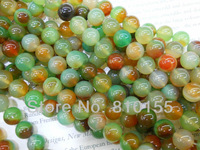 10mm Band Agate Round Beads Gemstone Jewelry Loose Beads 15.5'' Full Strand 11colors