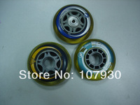 Original k2 wheels high-elastic PU wheel transparent round 78mm wheels pulley