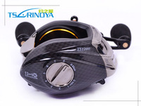 Fishing Reel Trulinoya Lure Reel Casting Reel TS1200 Left Hand Black 14 Bearings Bait Casting