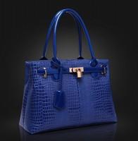 women leather handbags 2015 European and American style women crocodile embossed handbags women messenger bags
