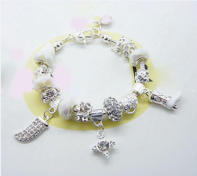 Браслет с брелоками Silver Charm P52 & 925 Bracelet браслет цепь oem lx ah211 925 925 aigaizna buraklya bracelet