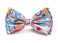 "Free shipping-Bow tie for Men Men's Unisex ""Rainbow Music Note Grey"" pattern Tuxedo Dress Bowtie Brand New"