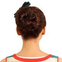 Free shipping New style Gs Mocha Big Hair Buns For Pick Clip On In  Human Hair Ponytail Chignon For honey gift