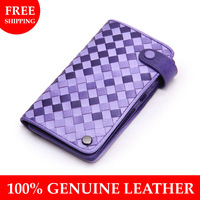 Free shipping Genuine leather card holder 7 colors