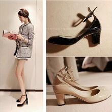 2013 novos modelos estrela coreana com grossas senhoras de salto alto OL sapatos de moda feminina mulheres bombas yw9(China (Mainland))