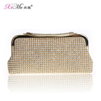 FREE SHIPPING Rhinestone bag luxury bridal bag fashion evening bag banquet bag quality cheongsam clutch women's handbag