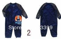 Baby Romper climbing clothes baby winter velvet long-sleeved jumpsuit square feet bodysuit