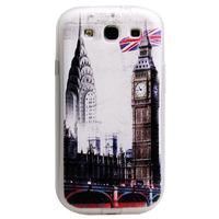 100pcs/lot Hot Selling Phone Accessories Soft TPU Phone Cover Case For Samsung Galaxy S3 I9100 Cover