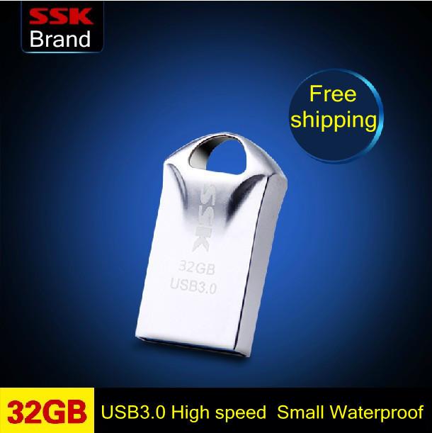 Ssk brand SFD230 32GB usb3.0 small mini usb flash drive high speed usb flash disk waterproof dustproof orginal free shipping(China (Mainland))