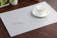 Free shipping Waterproof mat fashion pvc heat pad coasters bowl pad disc pads western pad fresh solid color