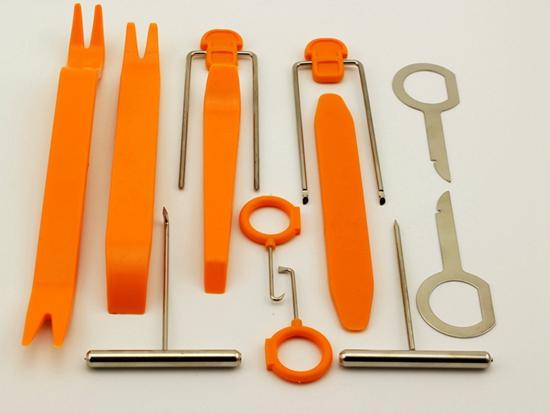 12Pcs Dismantle Tools For Vehicle Video Audio Dash Door Lamp Door Knob Installation Tool kit(China (Mainland))