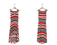 2014 new spring summer lady fashion colorful stripe dress, Bohemian beach clothing one piece dress