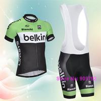 Free shipping 2014 belkin cycling jersey and cycling bibs shorts custom designs shirts14#47