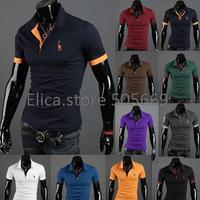 2014 Sale Fashion Broadcloth Free Shipping New Men's Slim Fit Men T-shirt Short Sleeve T Shirt High Quality 10 Color M-xxl