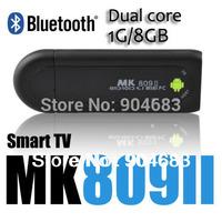 MK809II Bluetooth Android 4.2.2 Mini PC TV Stick Box Rockchip RK3066 1.6GHz Cortex A9 Dual core 1GB RAM 8GB MK809 II 3D