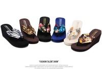 2014 NEW Free shipping Ultra high heels beach slippers summer wedges platform sandals flip flops women's shoes