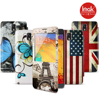 IMAK 5 types, case for Samsung Note 3 N900 smart opening screen battery cover (painted series), free shipping