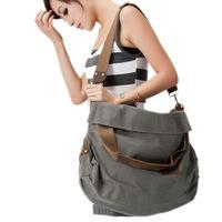 FREE SHIPPING Meters 2014 canvas casual big bag one shoulder cross-body vintage brief women's handbag fashion travel bag