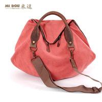 FREE SHIPPING  women's canvas handbag trend 2014 spring vintage big bag fashion leather trend