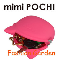 FedEx Free Shipping Mini POCHi Cat Ver Fashion Silicone Coin Wallet Purse Candy Color Silicone Coin POCH Purse Wallet