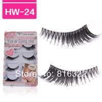 Handmade 5 Pair/Lot Thick Winged Long False Eyelashes Fake Eye Lashes Voluminous HW24