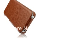 Luxury Genuine Leather Flip Cover for Apple iPhone 5 5S Cell Phone Holster Case For iPhone5 5G Cowhide Case Bag Free Shipping