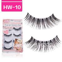 Free Shipping 5 Pair/Lot Thick Long False Eyelashes Fake Eye Lashes Voluminous HW10