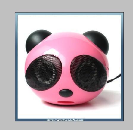 New Portable mini Speaker Fashion panda Speaker mini Speaker for mp3/mp4/ PC/ PSP loudspeaker(China (Mainland))